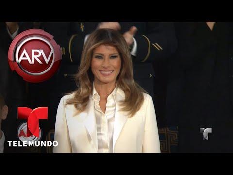 Melania Trump alborotó las redes con su pantalón blanco | Al Rojo Vivo | Telemundo