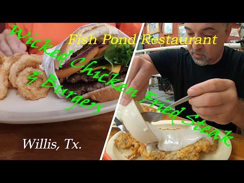Chicken Fried Steak, Burger, Breakfast, Willis, Texas Fish Pond Restaurant Video (How To Eat Right)