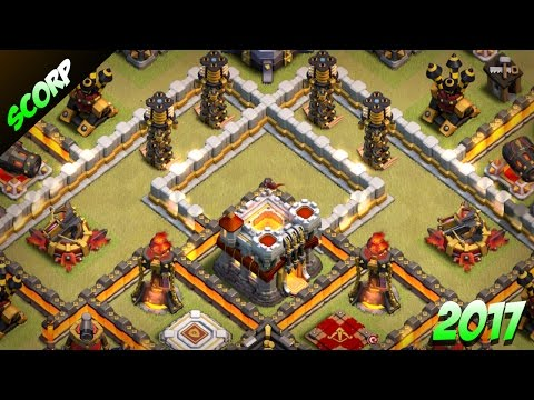 BEST TH11 War Base 2017 Anti 2 Star | CoC TH11 Trophy Base | TH11 Base 2017 - Clash Of Clans