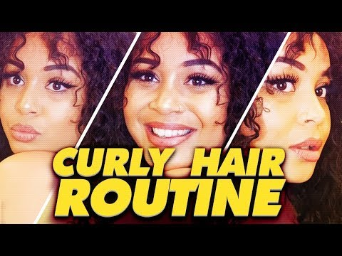 CURLY HAIR ROUTINE 🦁