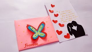 Best Promise Day Card | How to make Greeting card for Valentines day | Easy Valentines day DIY