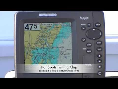 loading a hot spots fishing chip into a humminbird gps - youtube, Fish Finder