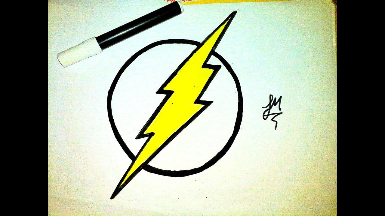 Como Desenhar A Logo Do Flash How To Draw Flash Youtube