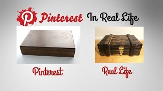 DIY Jewelry Box Wood Burned Exterior - Pinterest in Real Life