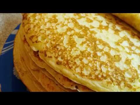Как испечь толстые блины на кефире