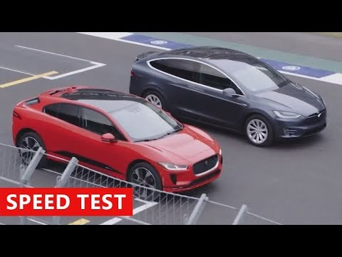 2019 Jaguar I-PACE vs Tesla Model X - Race Challenge