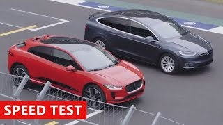 2019 Jaguar I-PACE vs Tesla Model X - Race Challenge