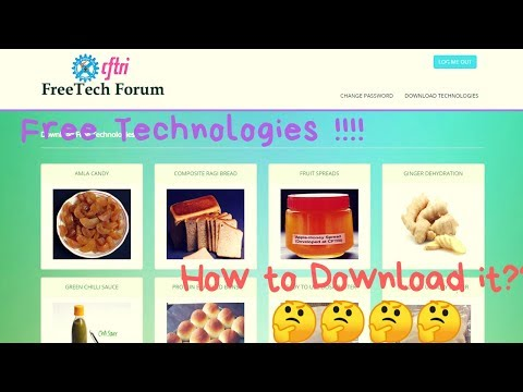 How to access FREE TECHNOLOGIES from CSIR-CFTRI?
