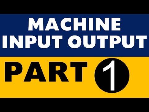 Machine Input Output Part -1 (IBPS PO / SBI / Clerk / SO /LIC /All Banking exams)