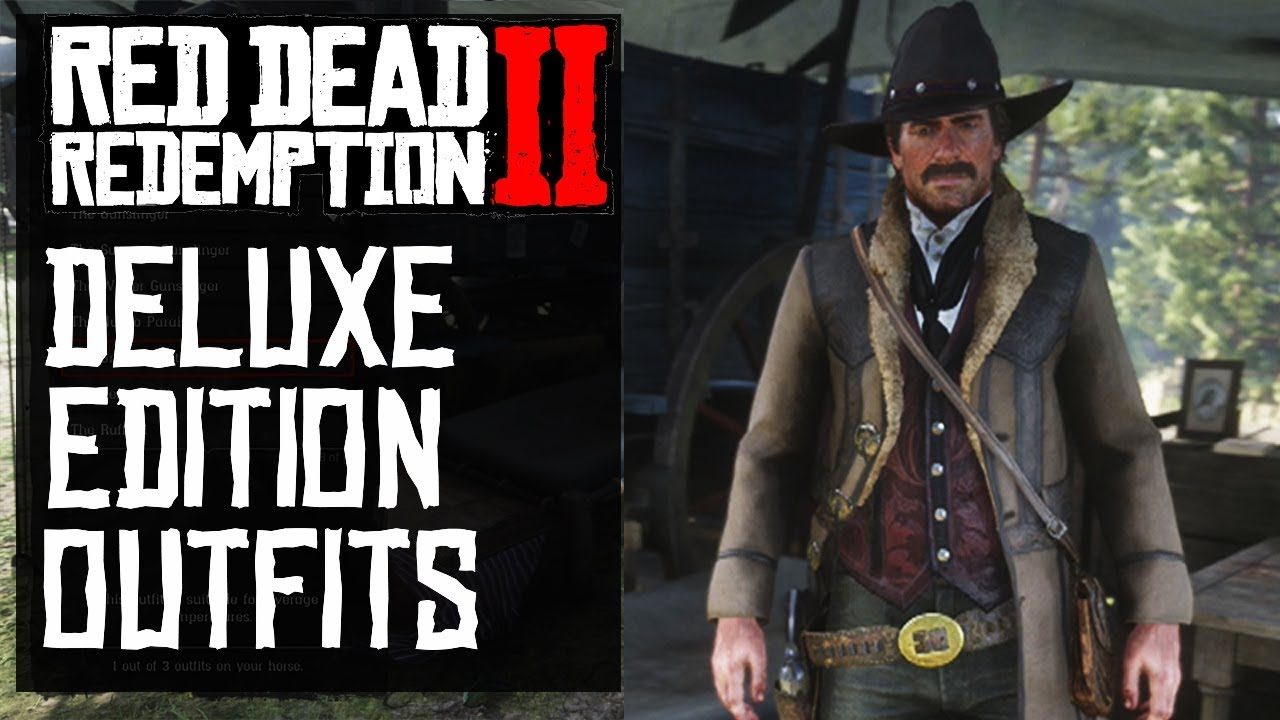 Deluxe Edition Outfits Wardrobe Red Dead Redemption 2 Outfits