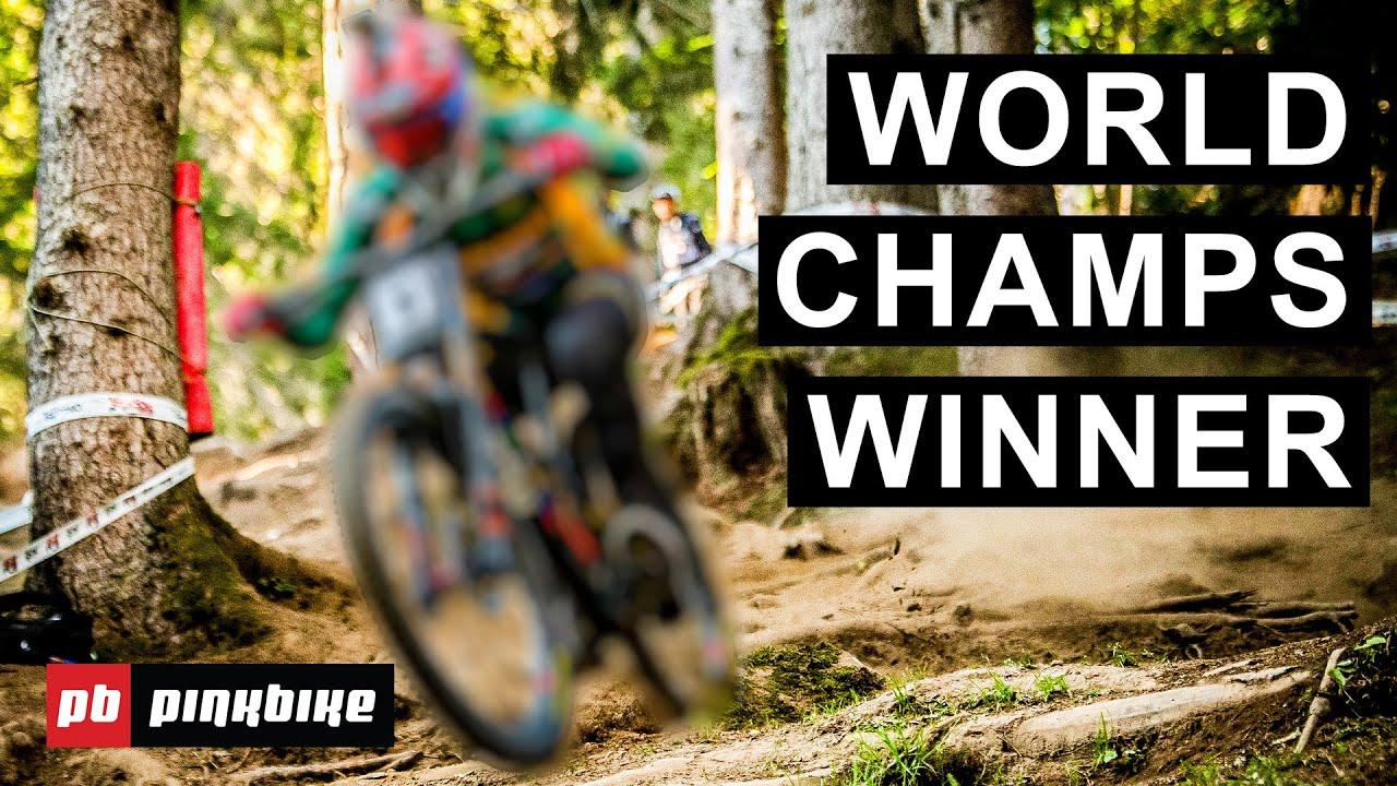 Greg Minaar (und ein SantaCruz V10) ist wieder einmal Weltmeister im Downhill!