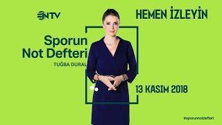 Sporun Not Defteri 13 Kasım  2018