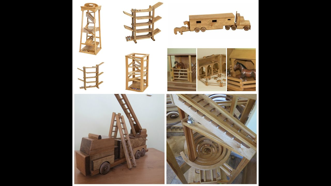 Amish Handmade Wood Toys Games Youtube
