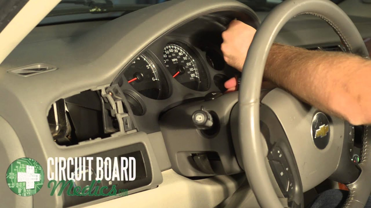suburban instrument cluster removal  repair youtube