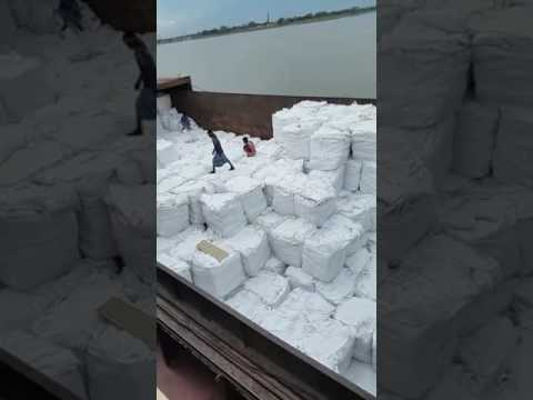 Rice loading facilitated by BlackTiger Corporation for Libya . From barge to vessel loading ..