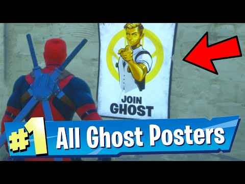 Deface GHOST Posters Fortnite