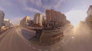 Видео 360: Самоходная гаубица МСТА-С едет по центру Москвы