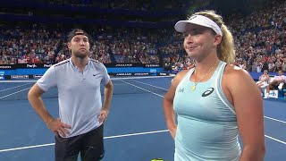 Jack Sock and CoCo Vandeweghe on-court interview (RR) | Mastercard Hopman Cup 2018