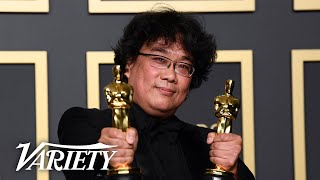 Bong Joon Ho and 'Parasite' Sweep Oscars - Full Backstage Interview