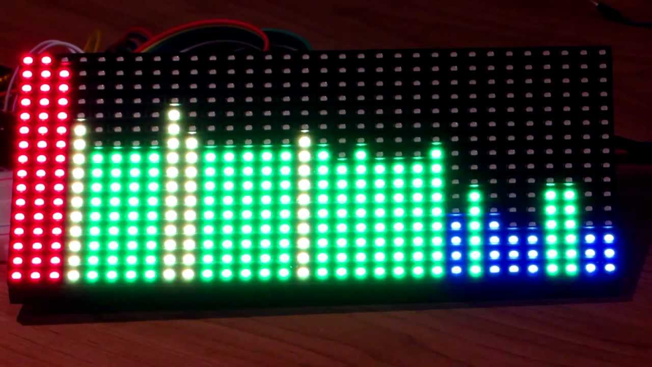 32 x 16 led matrix arduino spectrum analyzer