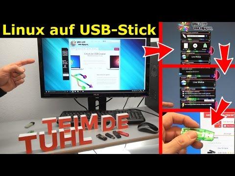 Linux auf USB-Stick erstellen - Linux Live USB Creator - [4K Video]