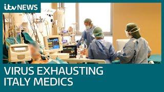 Coronavirus fight exhausting Italian medics as death toll continues to rise   ITV News