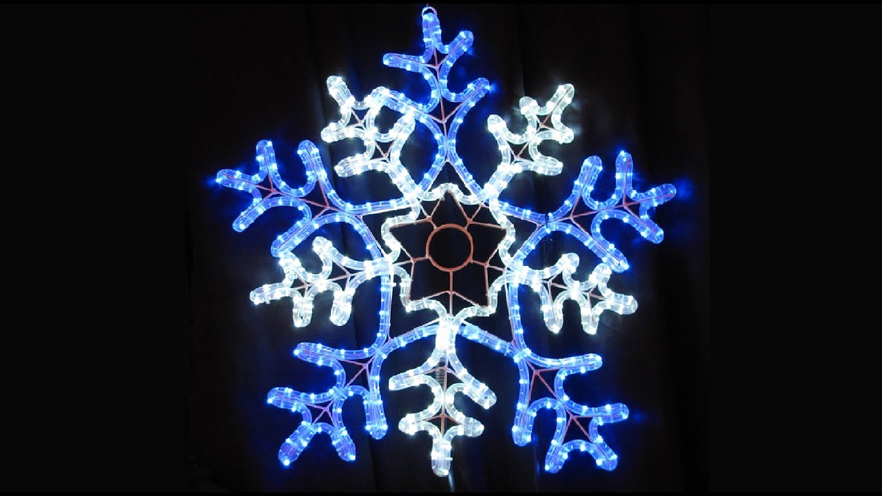 Rope Light Snowflake Rope light silhouette led snowflake the christmas warehouse rope light silhouette led snowflake the christmas warehouse youtube audiocablefo