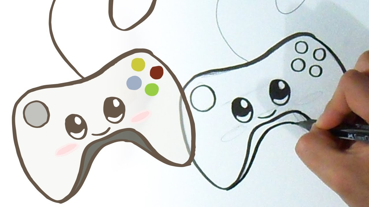 Como Dibujar Control Xbox Kawaii Youtube