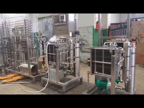 Milk Pasteurizer 200/400 L/h (HTST Flow Pasteuriser) For Mini Dairy Plant