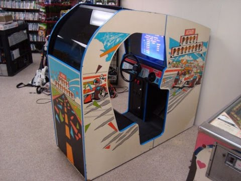 Atari's Legendary Pole Position Cockpit Arcade Game!  Gameplay, Cabinet design, artwork!