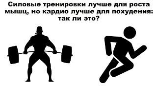 Силовые тренировки лучше для роста мышц, но кардио лучше для похудения: так ли это?