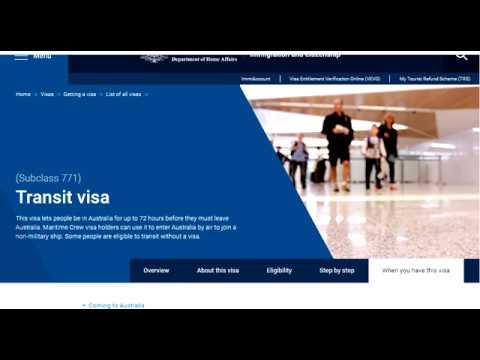 Subclass 771 Transit Visa Australia Full Information Step By Step