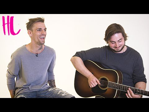 Aaron Carter Performs 'Fool's Gold' Acoustic Live
