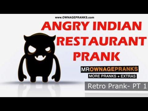 Retro Angry Indian Restaurant Prank Pt 1 - Ownage Pranks