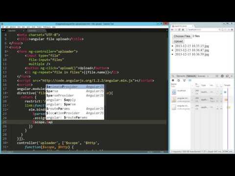 File Uploads angularjs Video Tutorial