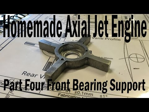 Homemade Axial Jet Engine Part4 - Front Bearing Support