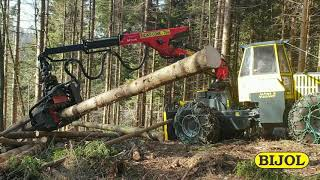 FORESTRY SKIDDER BWS160 WITH HARVESTER HEAD; BWS160 FORSTSPEZIALSCHLEPPER MIT HARVESTER KOPF)