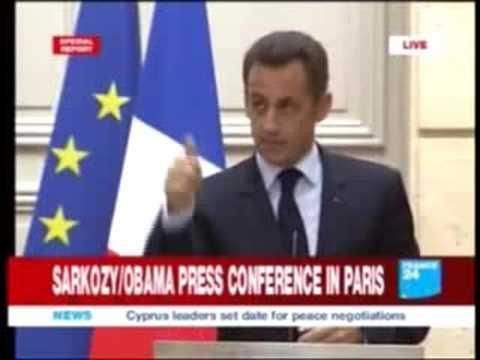 SarKozY News : Après Berlin, Barack Obama est à Paris / Sarkozy : une question embarrassante de Christiane Amanpour (CNN) 2/3