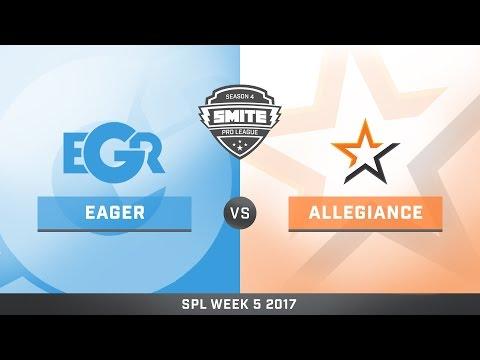 SPL Spring Split Week 5 Team Eager vs. Team Allegiance Game 1