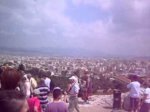 Athens - City skyline to the Areopagus hill