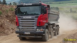 Scania R420 Dump truck - driving at the quarry