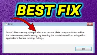 How to Fix Forтnite Out of Video Memory Trying to Allocate a Texture Error / Epic Games Launcher