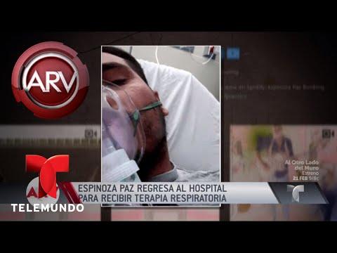 Espinoza Paz regresó al hospital | Al Rojo Vivo | Telemundo