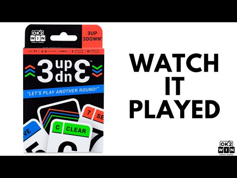 3UP 3DOWN Card Game: Watch It Played