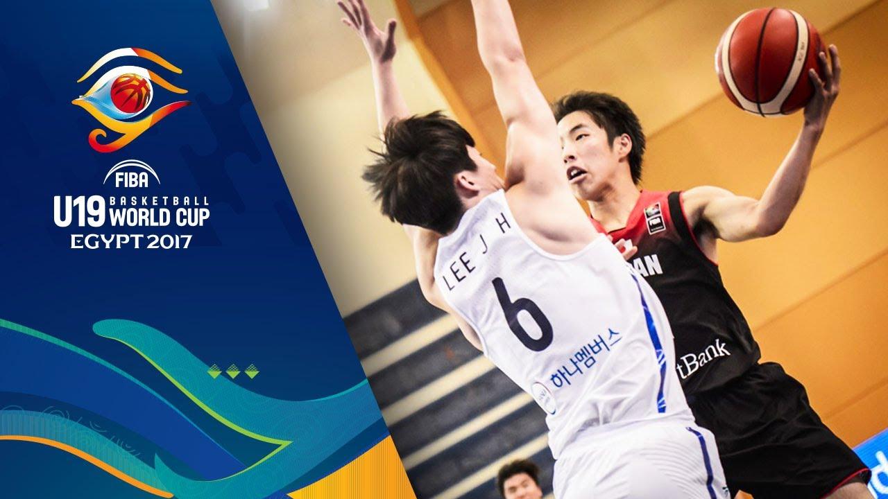 Korea v Japan - Full Game - CL 9-16 - FIBA U19 Basketball World Cup 2017
