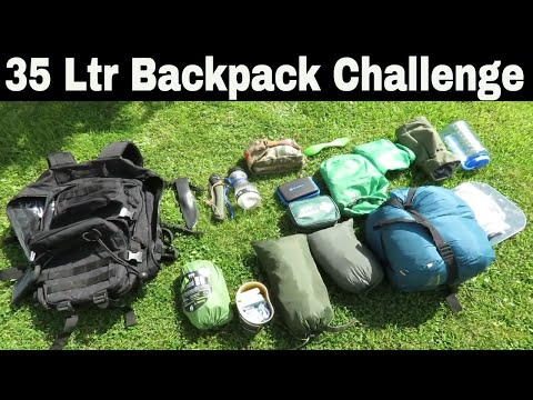 Wild Camping And Bushcraft Skills: MilTec 36Ltr Backpack Challenge - Essential Gear For Wild Camping