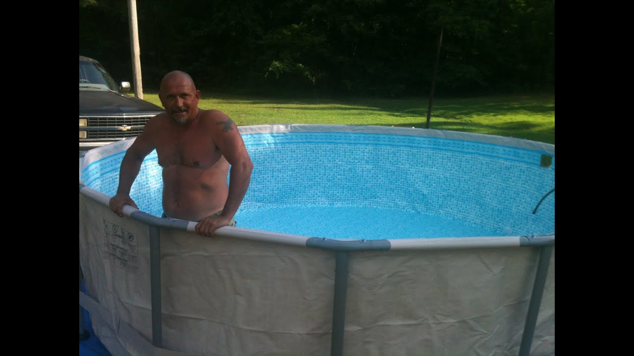 Intex metal frame pool leveling and installing youtube - Steel frame pool ...