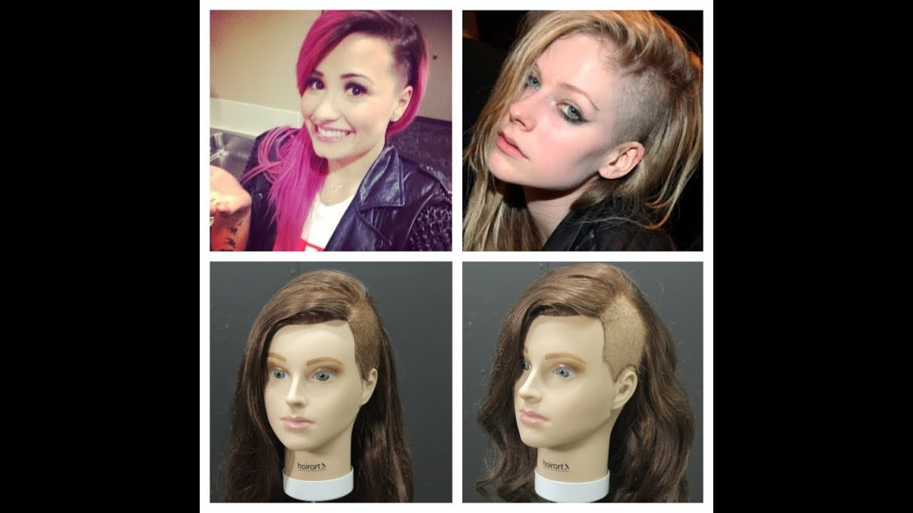 Avril Lavigne Demi Lovato Inspired Shaved Sides With
