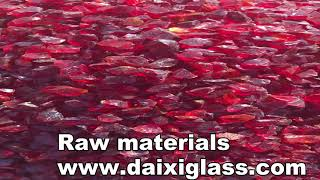 raw materials beautiful colored glass