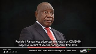 President Ramaphosa addresses the Nation on COVID-19 response